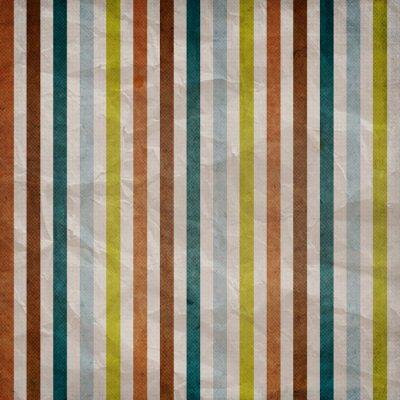 Quadro Teste padrão da listra retro - fundo marrom com colorido, azul, cinza