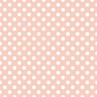 Quadro Teste padrão de ponto Seamless polka