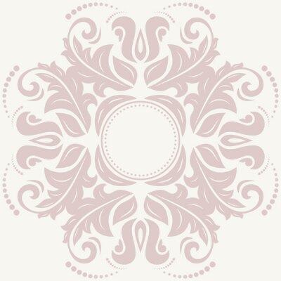 Quadro Teste padrão floral abstrato