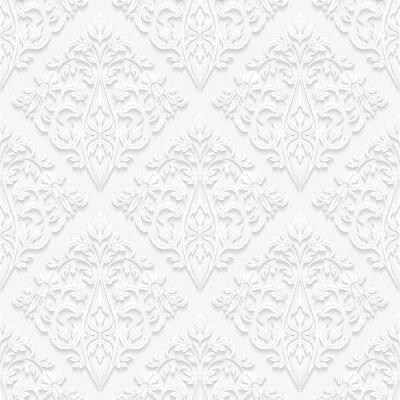 Quadro Teste padrão floral sem emenda no estilo tradicional