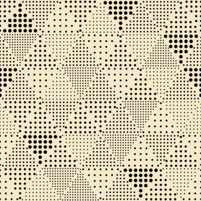 Quadro Teste padrão geométrico abstrato sem emenda triângulo moderno