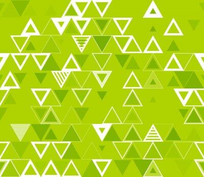 Quadro Teste padrão geométrico sem emenda com triângulos.