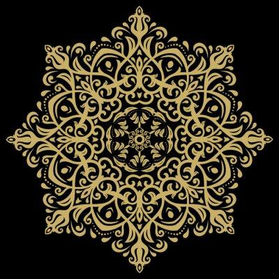 Quadro Teste padrão oriental do damasco
