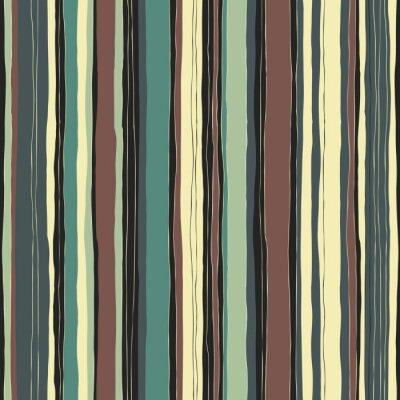 Quadro Teste padrão retro abstrato das listras das cores. Linhas desenhadas à mão sem costura