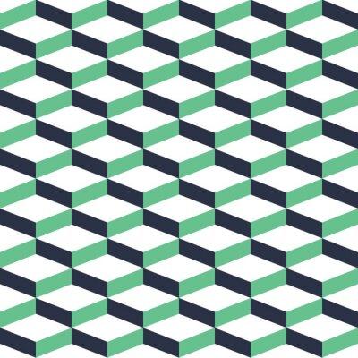 Quadro Teste padrão sem emenda da ilusão geométrica de turq