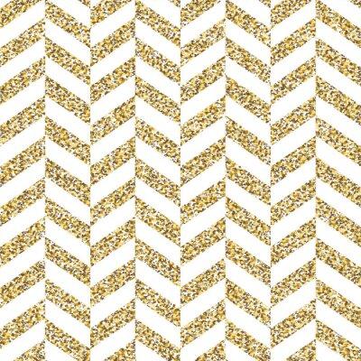 Quadro Teste padrão sem emenda da viga. Brilhante superfície dourada