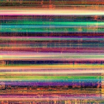 Quadro Textura envelhecida vintage, fundo colorido do grunge com espaço para o texto ou a imagem. Com testes padrões diferentes da cor: amarelo (bege); Castanho; Violeta roxa); azul; verde