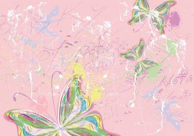 Quadro Tintas borboleta