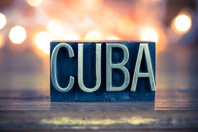 Quadro Tipo de Cuba Conceito do metal da tipografia