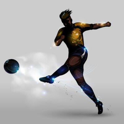 Quadro Tiroteio poder abstrato de futebol
