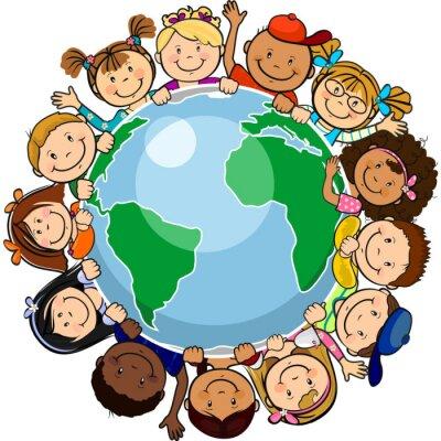 Quadro Todos unidos no mundo