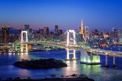 Quadro Tokyo Rainbow Bridge und Tokyo Tower