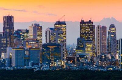 Quadro Tokyo Skyline em Crepúsculo