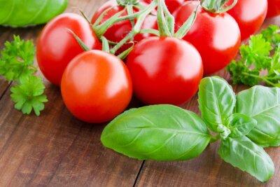 Quadro Tomate e manjericão