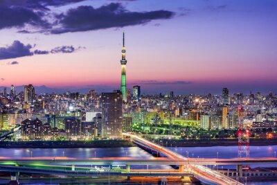 Quadro Tóquio, Japão Skyline