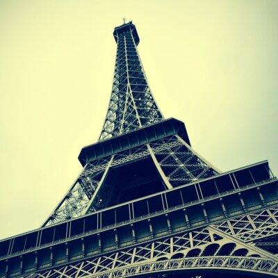 Quadro Torre Eiffel em Paris, França, com um efeito retro
