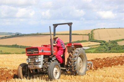 Quadro Tractor vintage arando