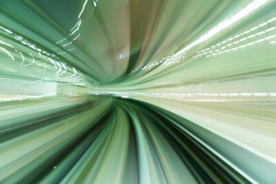 Quadro Trem, movimento, rapidamente, túnel