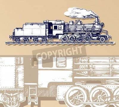 Quadro trem vintage.