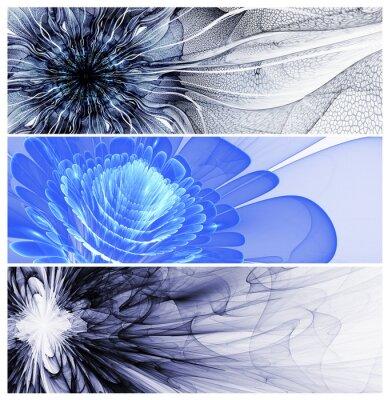 Quadro Três baners abstratos da flor