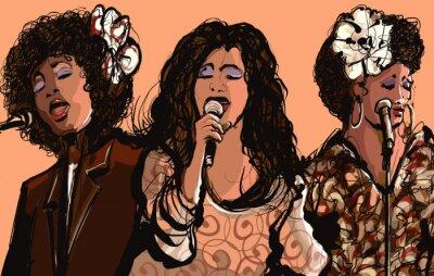 Quadro Três, mulheres, jazz, cantores