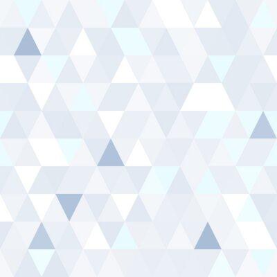 Quadro Triangular, forma, cintilante, azul, seamless, Padrão. Fundo brilhante geométrico.