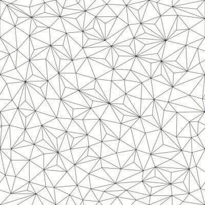 Quadro Triângulos de fundo, sem emenda, design linha
