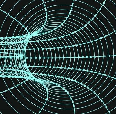 Quadro Tridimensional, abstratos, túnel, tubo