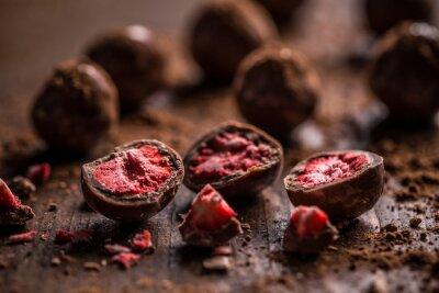 Quadro Trufas de chocolate amargo