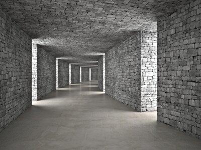 Quadro túnel abstrato