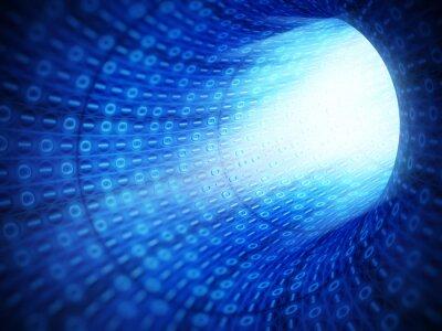 Quadro Túnel do código binário