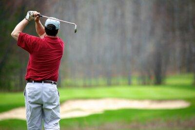 Quadro Um homem que aprecia um jogo de golfe