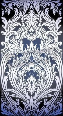 Quadro Um patrono do teste padrão sem emenda de Luis XIV quarto