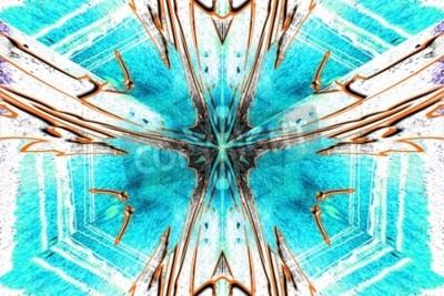 Quadro Uma estrela de abstração simétrica