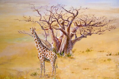 Quadro Uma girafa, Kenya