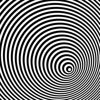 Quadro Uma ilusão óptica preto e branco