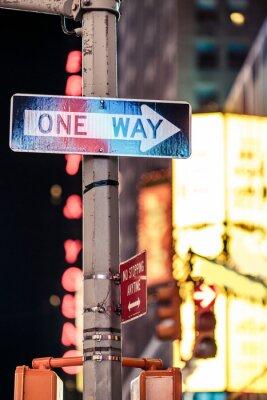Quadro Uma maneira de Nova Iorque sinal de trânsito