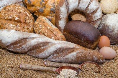 Quadro Uma variedade de produtos de padaria