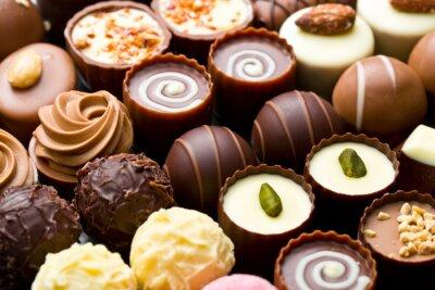 Quadro Variedade chocolate pralines