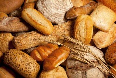 Quadro Variedade do pão cozido com trigo