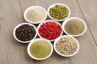 Quadro Vários tipos de pimenta