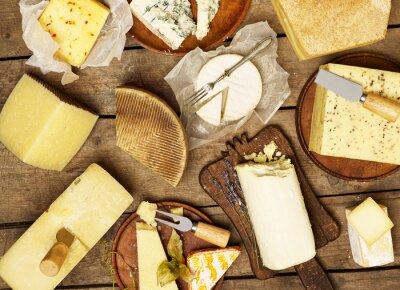 Quadro Vários tipos de queijo