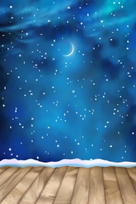 Quadro Vector Inverno Nightly Clouds Background