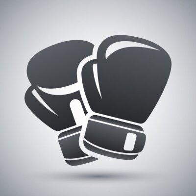 Quadro Vector luvas de boxe ícone
