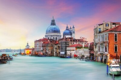 Quadro Veneza - Grand Canal e da Basílica de Santa Maria della Salute
