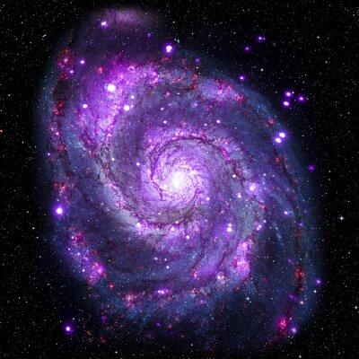 Quadro Ver imagem do sistema Galaxy isolado Elementos desta imagem fornecidos pela NASA