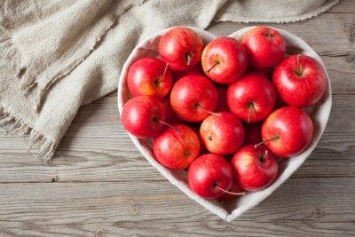Quadro Vermelho, maçãs, tabela