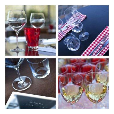 Quadro Verre, verrerie, vin, mesa, couvert, bar, cervejaria, caverna