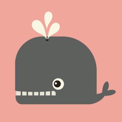 Quadro vetor bonito da baleia