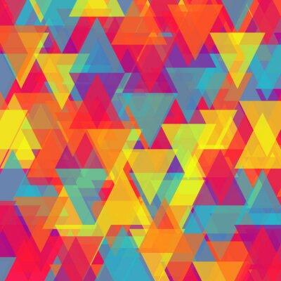 Quadro Vetor de abstratos, fundo triângulo